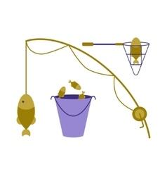 Fishing tackle logo vector image