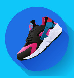 Fitness sneakers shoes for training running shoe vector
