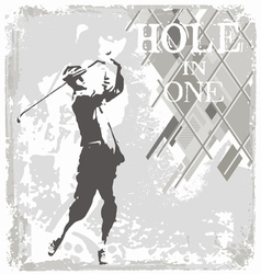 hole in one golf vector image vector image