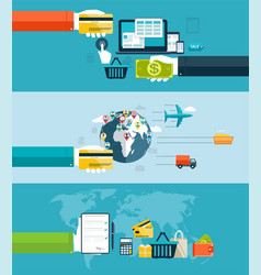 icons for web and mobile design seo vector image