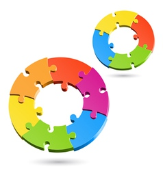 jigsaw puzzle wheels vector image