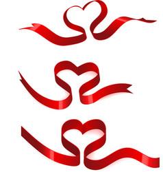 ribbons heart vector image