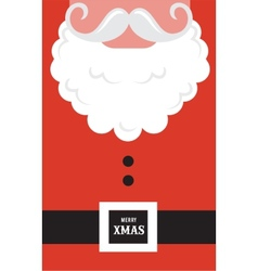 Santa Claus fashion silhouette hipster style vector image