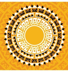 sun madala in maya style - vector image