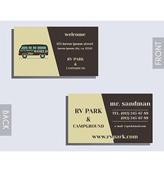 Travel and Camping visiting card design Layout vector image