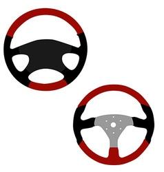 Two steering wheel vector image