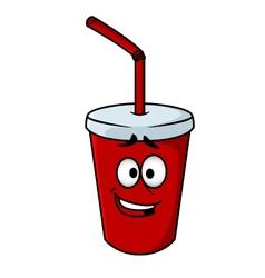 Cartoon takeaway soda vector image vector image