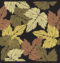 elegant seamless pattern with colorful leaves on vector image vector image