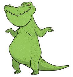 funny crocodile vector image vector image