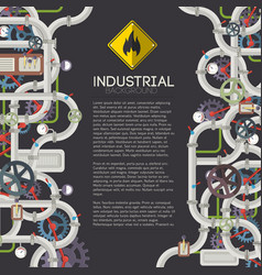 industrial mechanical background vector image vector image