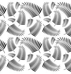 Seamless monochrome palm tree pattern vector image