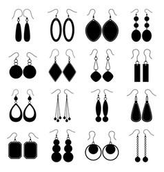 set of earrings vector image vector image
