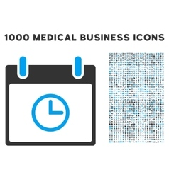 Time Calendar Day Icon With 1000 Medical Business vector image