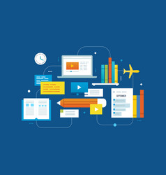training and education videotutorial development vector image