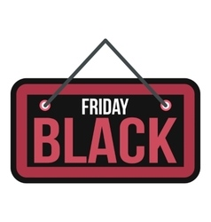 Black Friday sale signboard icon flat style vector image