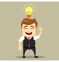 business man smile and have a new idea vector image