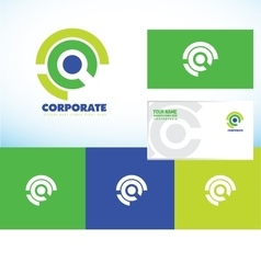 Corporate business abstract circle logo set vector image vector image