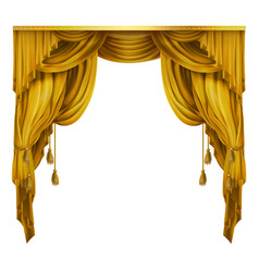 silk velvet theatrical curtain with folds vector image vector image