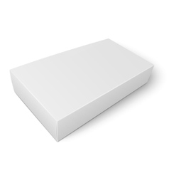 White flat paper box template vector image
