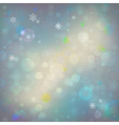 abstract Christmas bokeh background vector image vector image