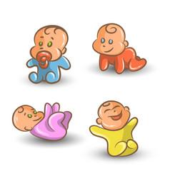 baby set on white background vector image