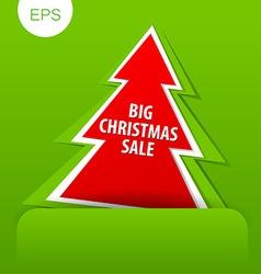 big christmas sale tree vector image vector image