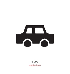Black and white car icon vector image