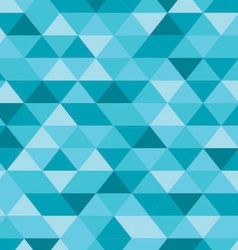 Blue Triangle Pattern Background vector image vector image