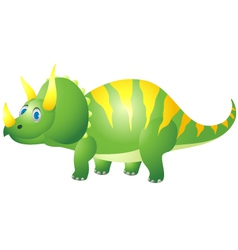 cute triceratops cartoon vector image