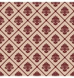 seamless line and crest pattern vector image vector image