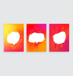 set of three one style banners with abstract vector image vector image