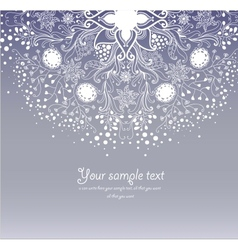 Vintage invitation card on grunge background vector image vector image