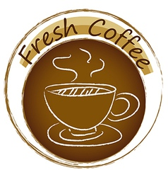 A fresh coffee label vector image