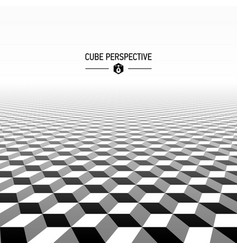 Abstract cubic perspective vector