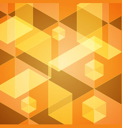 Abstract hexagon geometric background vector