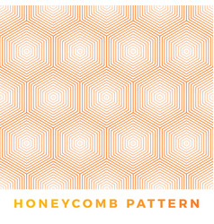 Abstract line honeycomb seamless pattern natural vector