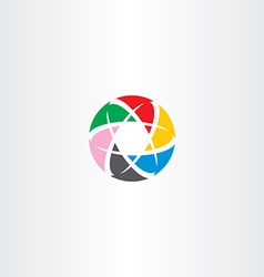 Abstract logo circle business tech colorful icon vector