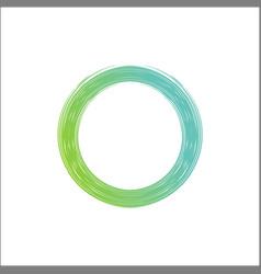 abstract shining green circle modern frame logo vector image