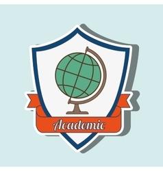 Academic emblem design vector