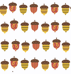 acorn seamless pattern it is located in swatch vector image
