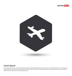 aeroplane icon hexa white background icon template vector image