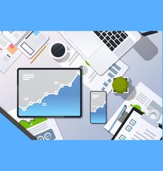 analysis financial graph finance business chart vector image