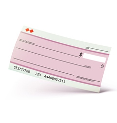bank check isolated vector image