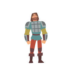 Barbarian warrior on amour medieval historical vector