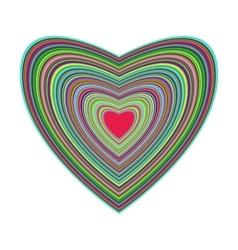 Big beautiful colorful heart vector