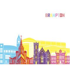 Brampton skyline pop vector