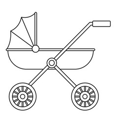 brand baby pram icon outline style vector image
