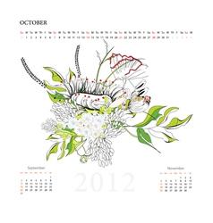Calendar for 2012 october vector