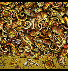 cartoon doodles africa frame vector image