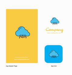 cloud circuit company logo app icon and splash vector image